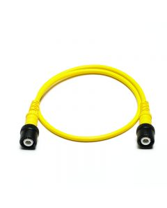 Insulated BNC to BNC cable - 0.5 m-TA260-Yellow
